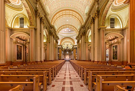 Cathedral-Basilica of Mary, Queen of the World, Montreal, Canada.