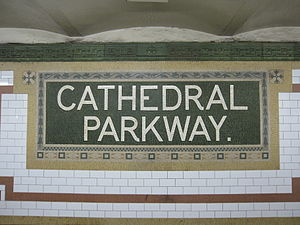 Cathedral Parkway–110th Street (IRT Broadway–Seventh Avenue Line) - Image: Cathedral Parkway 110th Street IRT Broadway 003