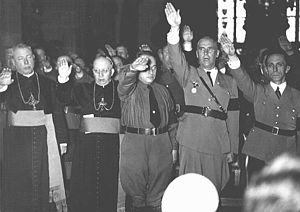 English: Catholic clergy and Nazi officials, i...
