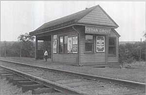 Cedar Grove, New Jersey - The Cedar Grove station on the Caldwell Branch of the Erie Railroad, in 1909