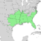 Celtis laevigata range map 2.png