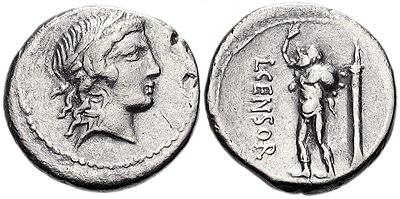Denarius of L. Censorinus