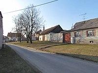 Center of Slavičky, Třebíč District.JPG