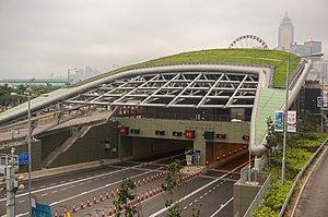 Central–Wan Chai Bypass Tunnel (Central Exit) 201903.jpg