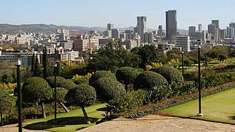 Politics of South Africa - The central area of Pretoria, the administrative capital of South Africa.