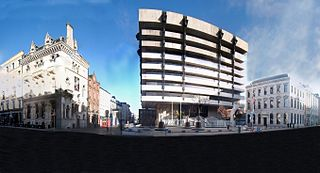 Dame Street Road in Dublin, Ireland