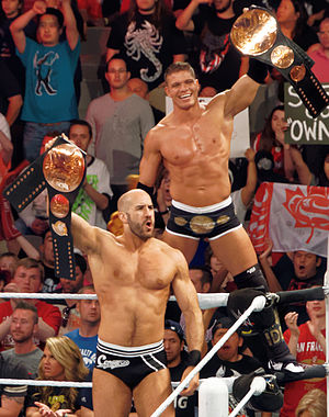 Tyson Kidd and Cesaro - Tyson Kidd and Cesaro as the WWE Tag Team Champions in March 2015