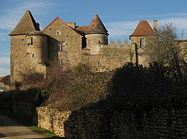 The chateau in Bissy-sur-Fley