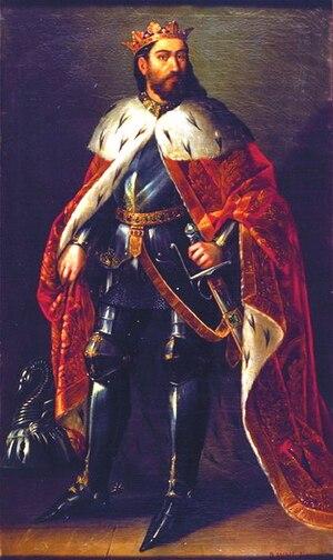 Manuel Aguirre y Monsalbe - James I of Aragon, painting by Manuel Aguirre