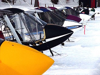 Fly-in - A fly-in of Quad City Challenger aircraft belonging to an aircraft type club