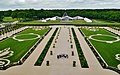 Chambord Blick vom Dach des Château de Chambord auf den Park 6.jpg
