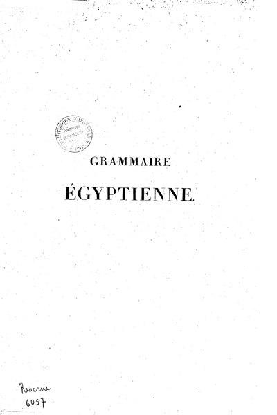 File:Champollion - Grammaire égyptienne, 1836.djvu
