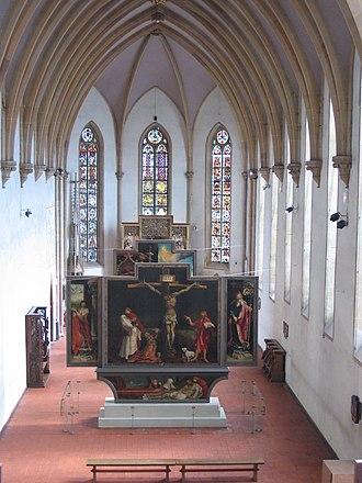 Unterlinden Museum - Image: Chapel of Musée d'Unterlinden with Isenheim altarpiece