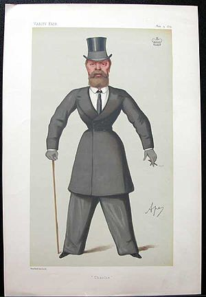 "Charles Harbord, 5th Baron Suffield - ""Charlie"". Caricature of Lord Suffield by Ape published in Vanity Fair in 1879."