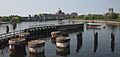 Charles River Bridge old abutments, July 2014.jpg
