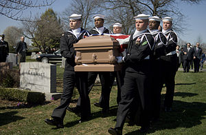 Charlotte Winters - A United States Navy honor guard bears the casket of Charlotte Winters, March 30, 2007