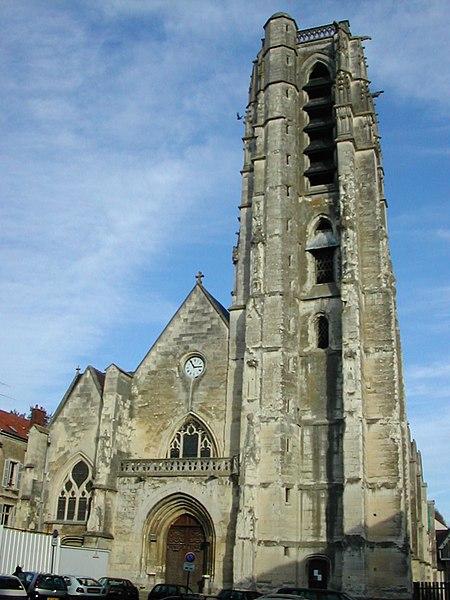 Église Saint Crépin. Taken at Château-Thierry (Aisne), with a Nikon Coolpix 775.