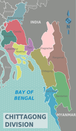 Districts of Chittagong Division