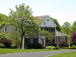 Chester Township, New Jersey - A Federal-style Colonial home in Chester Township