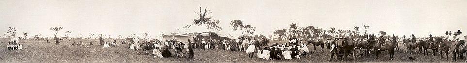 A Cheyenne Sun Dance gathering, circa 1909