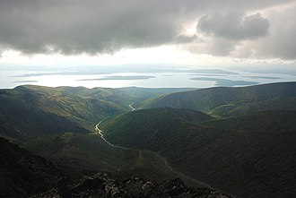 Kola Peninsula - View of Lake Imandra from the Khibiny Mountains