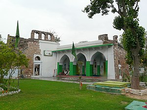 Nizamuddin Auliya - Chilla Nizamuddin Auliya, residence of Nizamuddin Auliya, towards the north-east from Humayun's tomb, Delhi