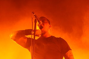 Mark Hunter (musician) - Mark Hunter performing live with Chimaira at the Nokia Theatre Times Square, on June 25, 2008