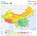 China DNI Solar-resource-map lang-CN GlobalSolarAtlas World-Bank-Esmap-Solargis.png