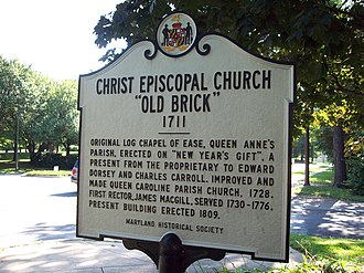 Christ Church Guilford - Image: Christ Church Guilford Marker Sept 09
