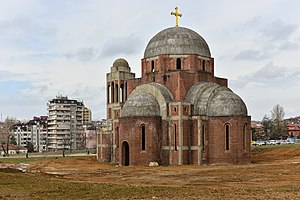 Church of Christ the Saviour, Pristina - The building in February 2013
