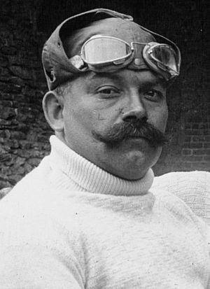 Christian Lautenschlager - Christian Lautenschlager at the 1914 French Grand Prix