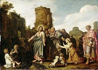 Le Christ avec la femme de Canaan