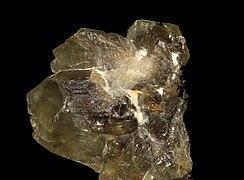 Chrysoberyl Crystal and Black Tourmaline Madagasgar