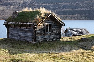 Wilderness hut - Wilderness hut in Utsjoki, Finland.