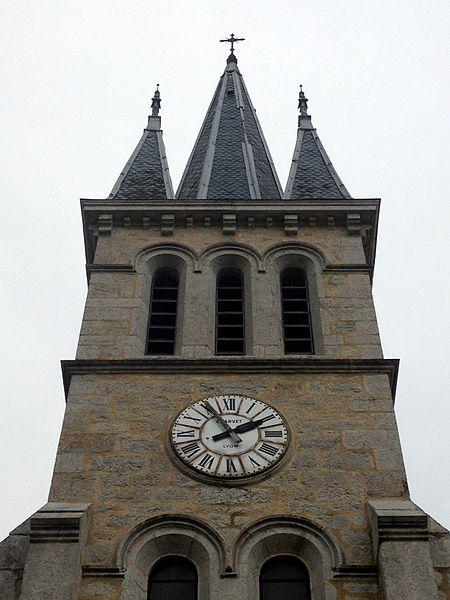 L'église de Faramans (Ain): horloge.