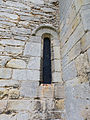 Church of St Andrew, Boothby Pagnell, Lincolnshire, England - window at west of porch.jpg
