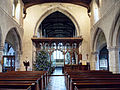 Church of St John, Finchingfield Essex England - Nave and chancel arch rood screen.jpg