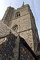 Church of St Nicholas, Ash-with-Westmarsh, Kent - tower and stair turret.jpg