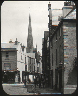 Church Street, Monmouth - Church St. 1890-1900 from west in Agincourt square