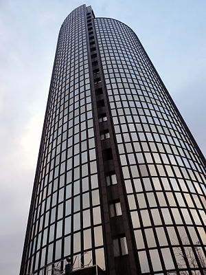 Cibona Tower - Image: Cibona Tower upwards