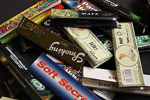 Rolling paper - Several brands of rolling papers