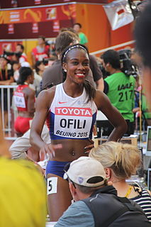 Cindy Ofili British athletics competitor