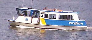 Transdev Brisbane Ferries - CityFerry with single deck
