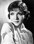 Publicity photo of Claudette Colbert.
