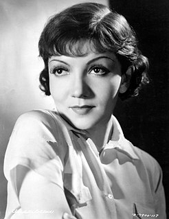 Claudette Colbert French-American actress