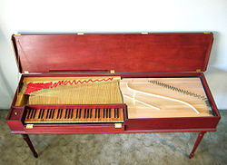 definition of clavichord