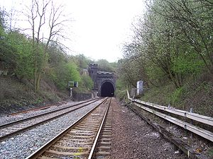 Clay Cross Tunnel - The northern portal of Clay Cross Tunnel