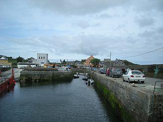Cleggan - The pier and harbour of Cleggan