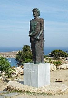 Statua in onore di Cleobulo a Lindo