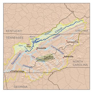 Einzugsgebiet des clinch river